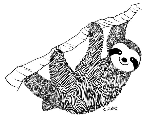 sloth tattoo design by yen yang88 on deviantart. Black Bedroom Furniture Sets. Home Design Ideas