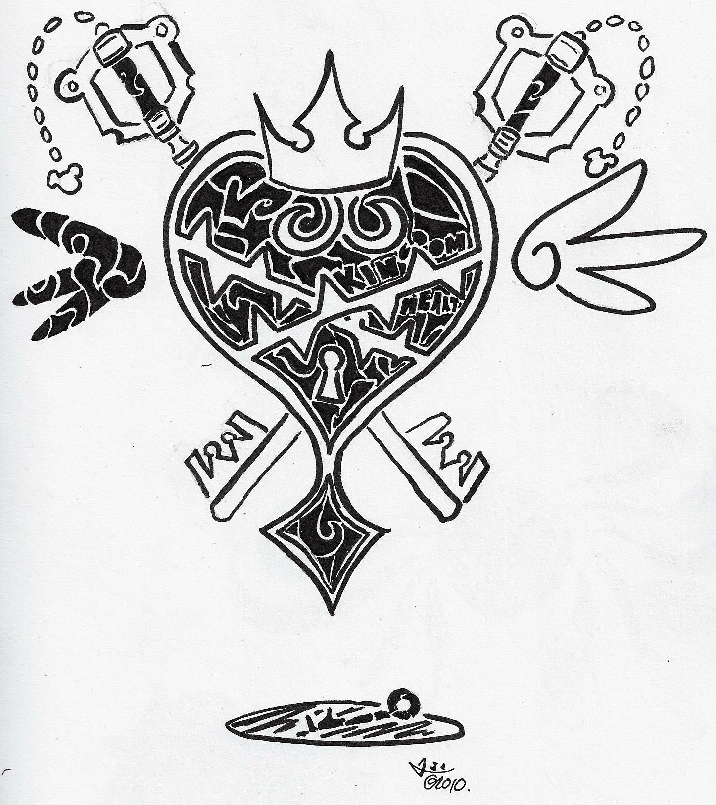 Kingdom Hearts Oathkeeper And Oblivion Tattoo 95660 Enews
