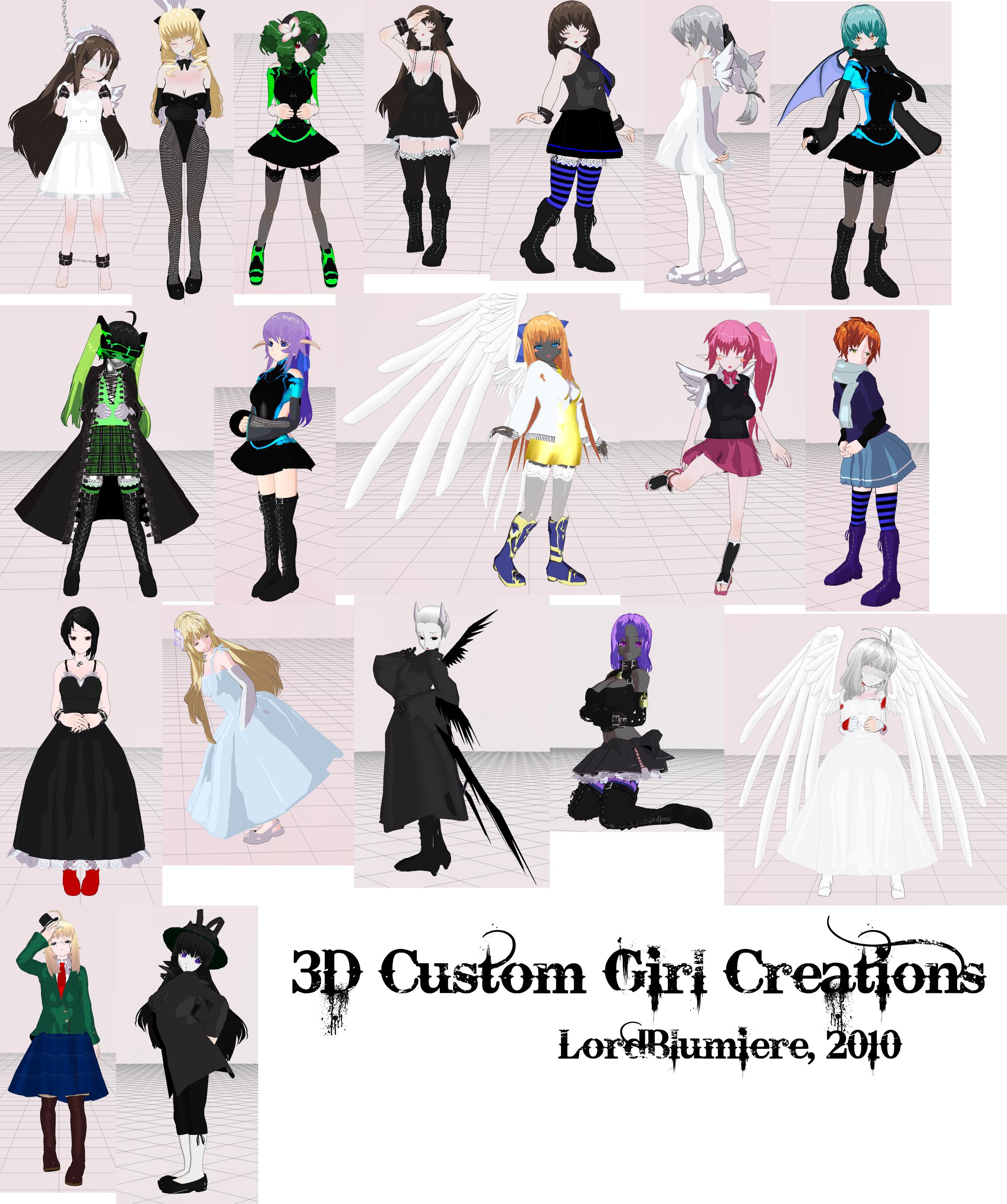 3d custom girls sex beauties