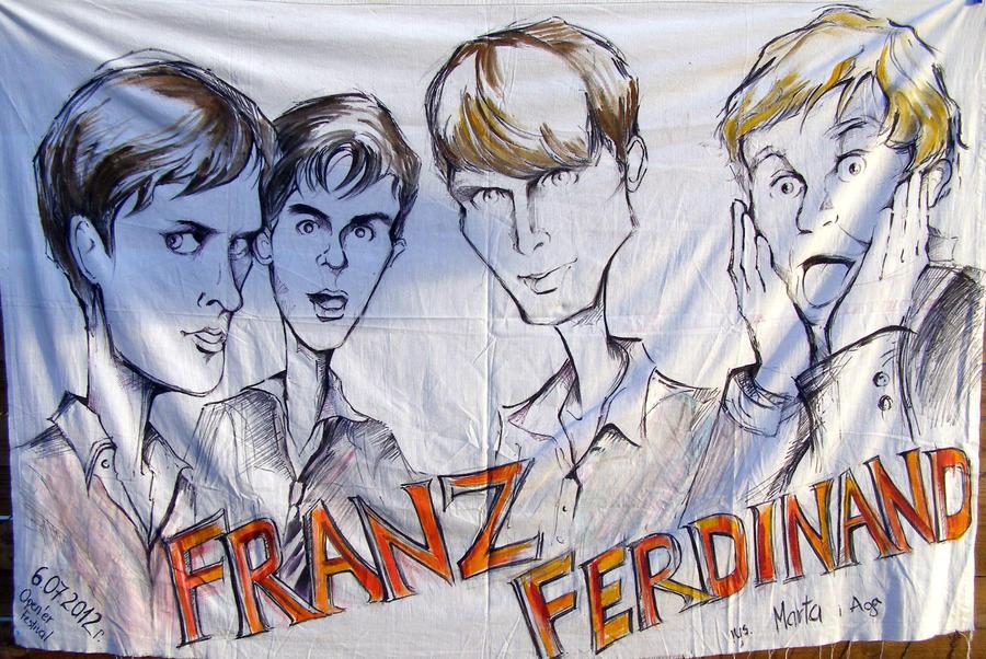 Franz Ferdinand banner by Martellaa