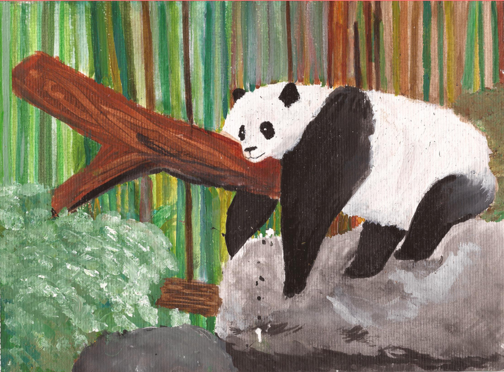Resting panda by Yukiisa