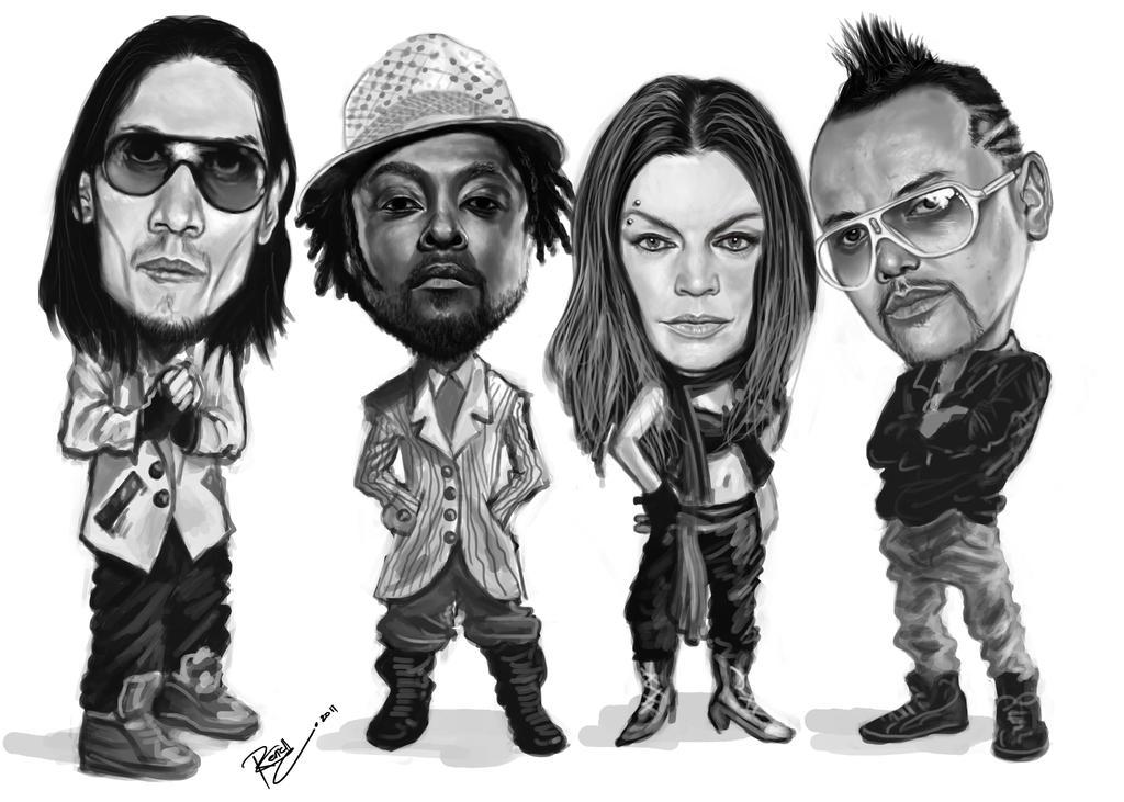Black Eyed Peas caricature by SocRej