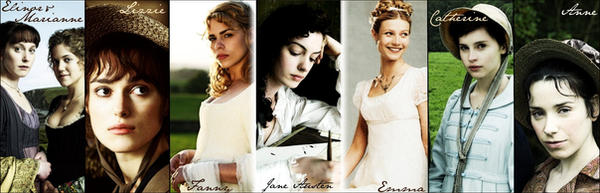 the female characters of jane austen The role of three female characters in jane austen's emma: emma's journey from blindness to insight ba thesis english language and culture, utrecht university.