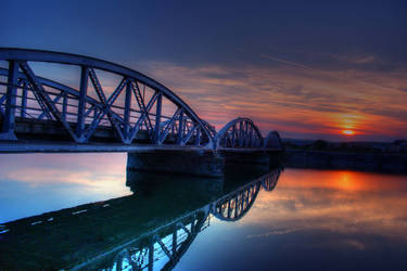 Sunset in Tirgu Jiu HDR by MihaiDaniel