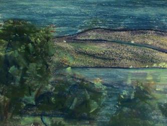 Seneca Lake at Night by DionysusRex
