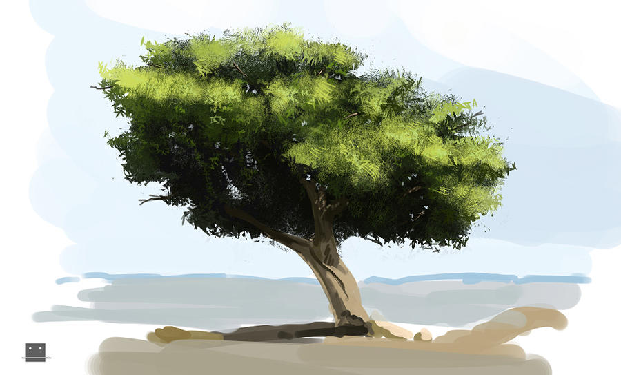 Digital painting trees by Sickbrush on DeviantArt