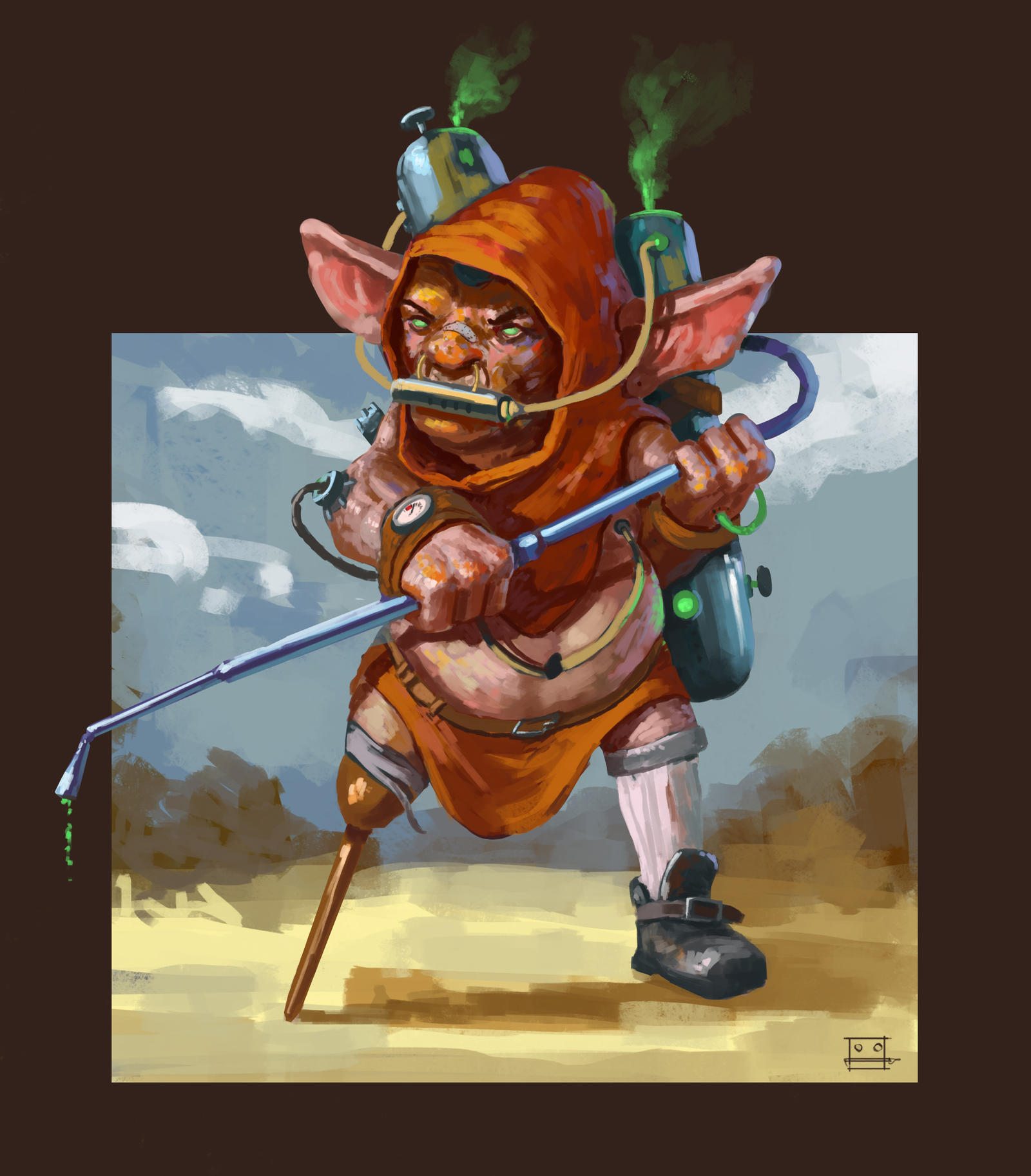 Pesticide goblin by Sickbrush
