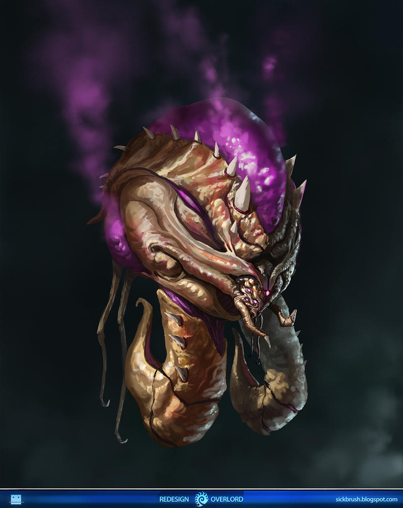 Starcraft 2 Overlord Redesign by Sickbrush