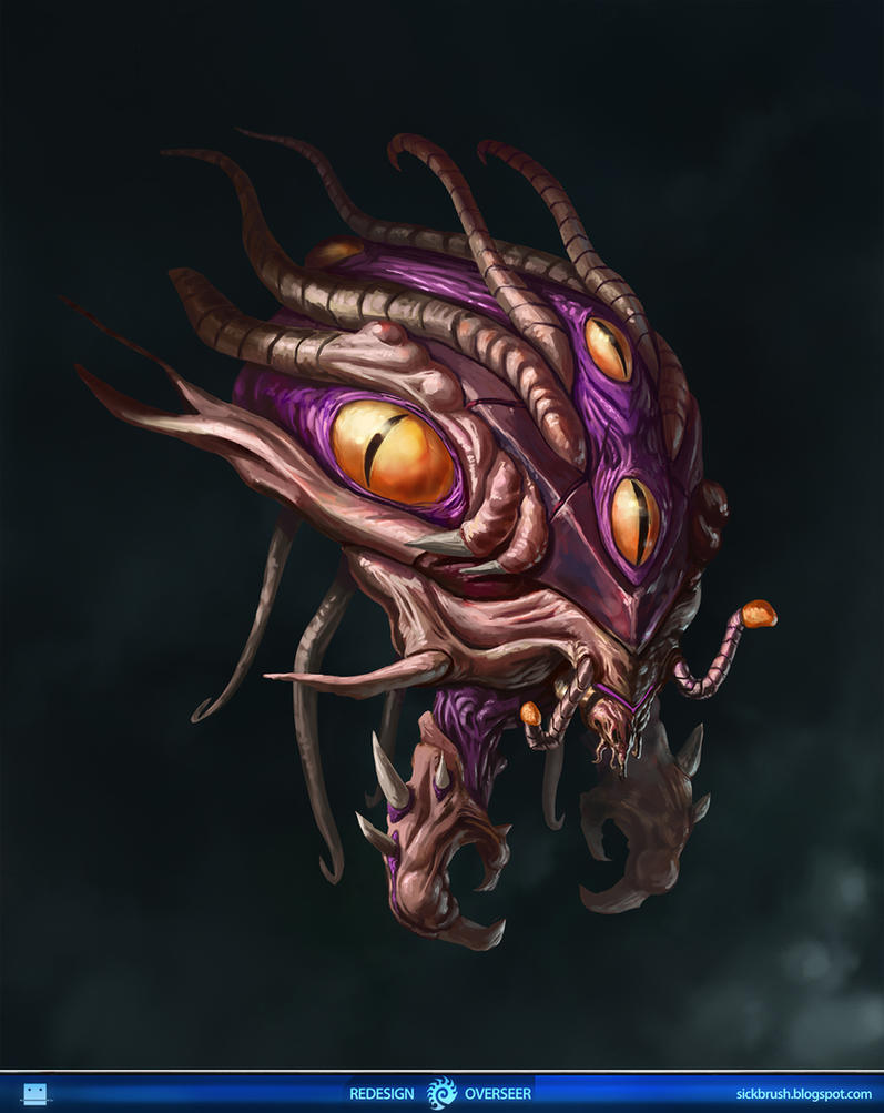 Starcraft 2 Overseer Redesign by Sickbrush