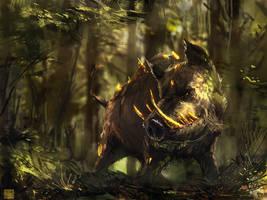 Elara : Boar Guardian by Sickbrush