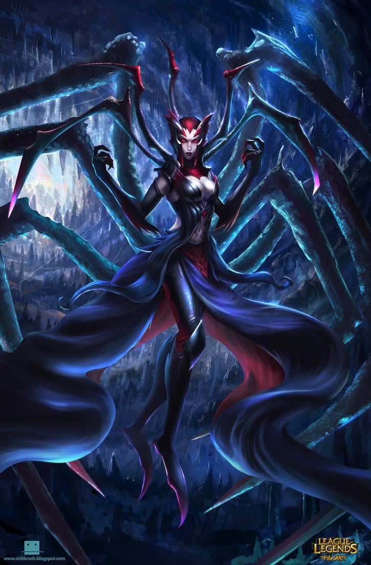 League of Legends Elise fanart by Sickbrush