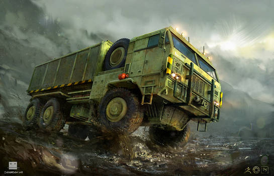 Container truck - Zbrush
