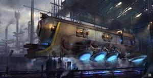 Titan steam hovertrain