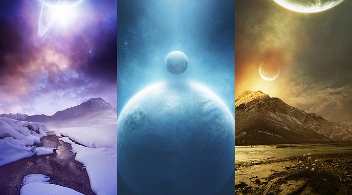 Sfondi-samsung star- planets by bernyfur-art