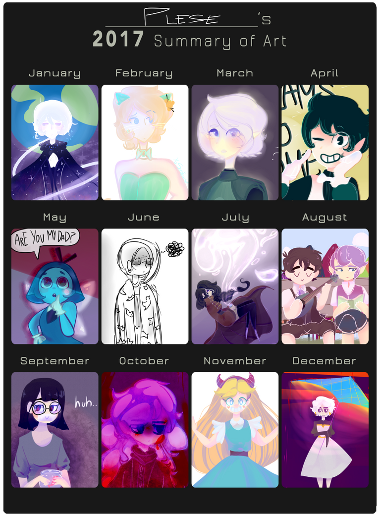 2017 Year In Art Summary by Pl-e-a-s-e