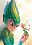 Tooth Fairy and Tinker Bell Unite
