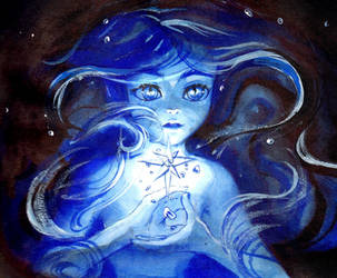 Inktober day 9 - Underwater Star by My-Magic-Dream