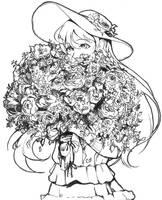 <b>Inktober Day 15 - Umi Sonoda Spring Sweets</b><br><i>My-Magic-Dream</i>