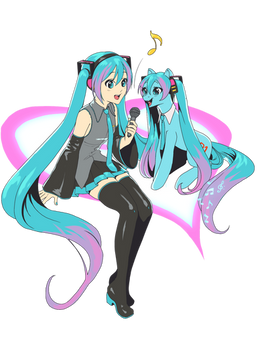 Miku and Pony Collab!