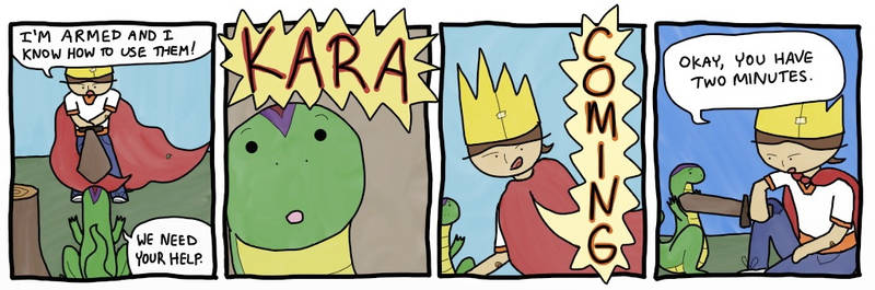 Kara the Brave: Chapter 0, Strip 3