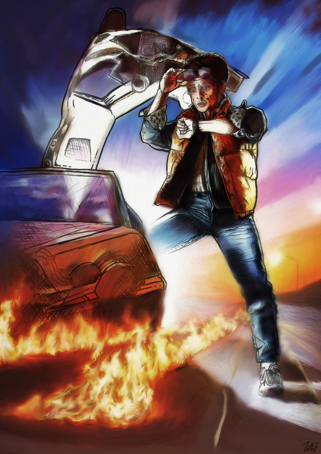 Back to the future digital painting by lbg44 on deviantart