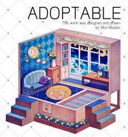 [OPEN] Adoptable : Night Room by owlnas