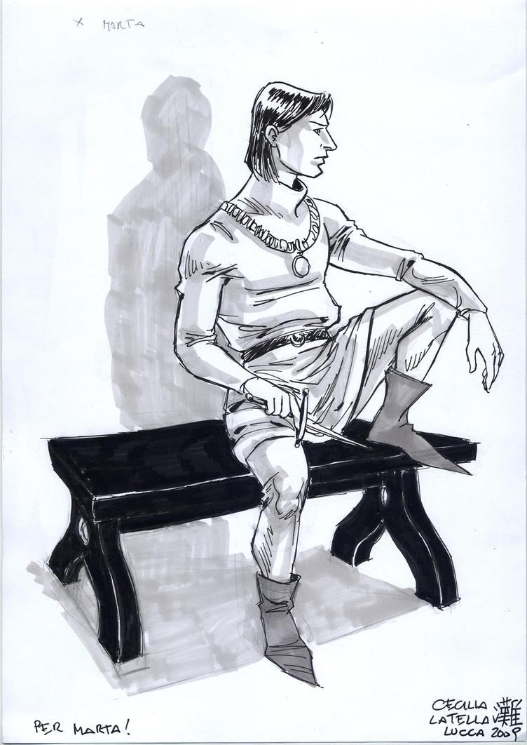 Richard sitting by cabepfir