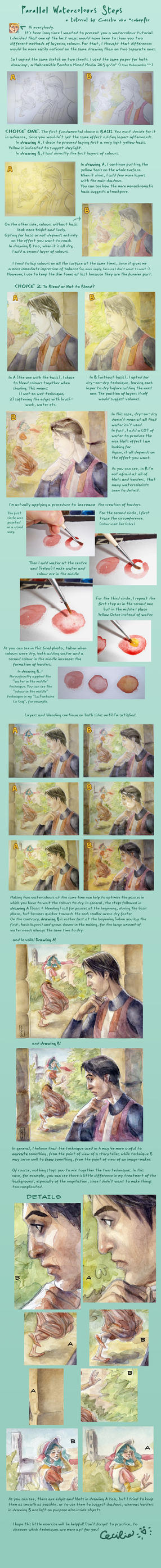 Parallel Watercolour Tutorial by cabepfir