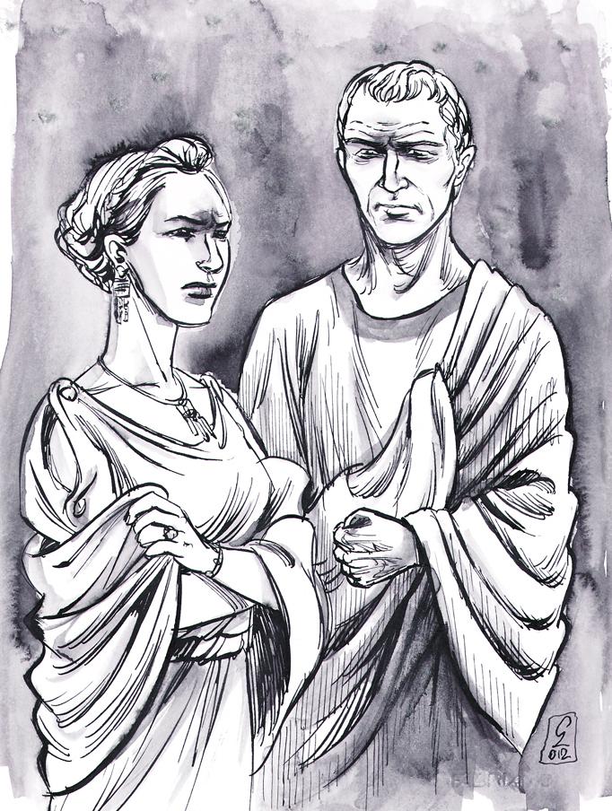 Augustus and Julia the Elder by cabepfir