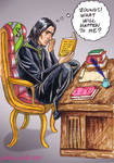 Snape reading Deathly Hallows