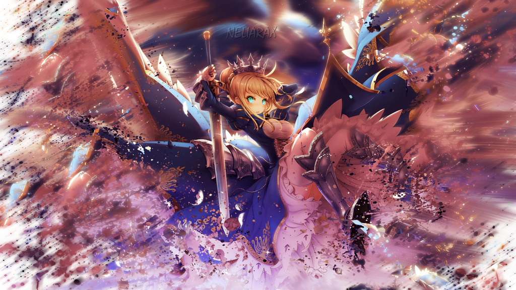 Fate Stay Night Unlimited Blade Works Saber by Neliarax
