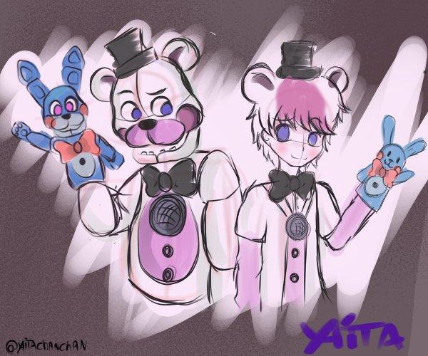 Funtime Freddy Anime Fnaf Sister Location By Yaita Chan