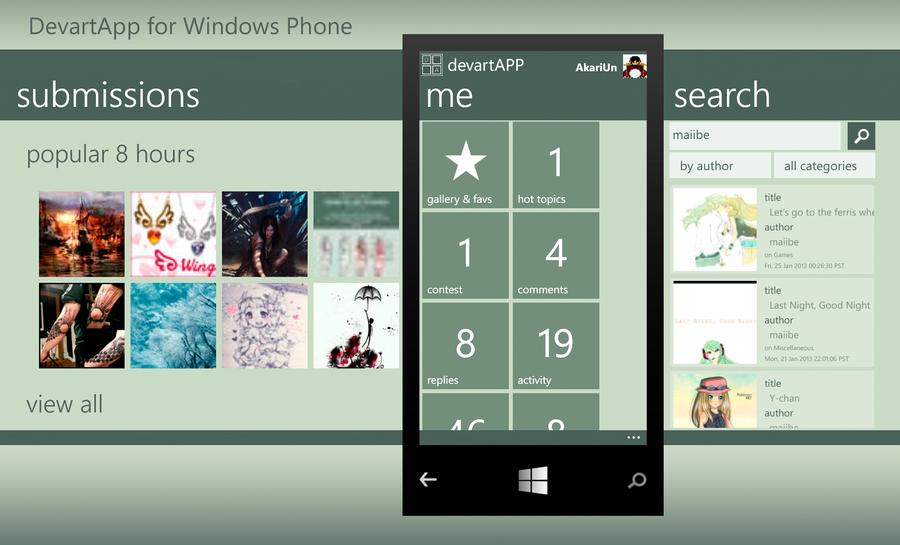DeviantArt App for Windows Phone Avaiable now! by AkariUn