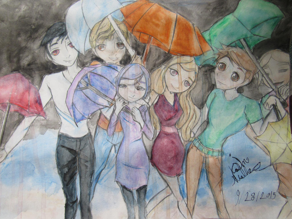 Rain of personalities by simmisimmi