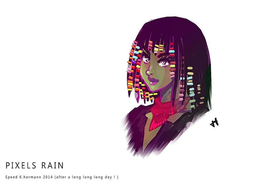 Pixels Rain by K-hermann