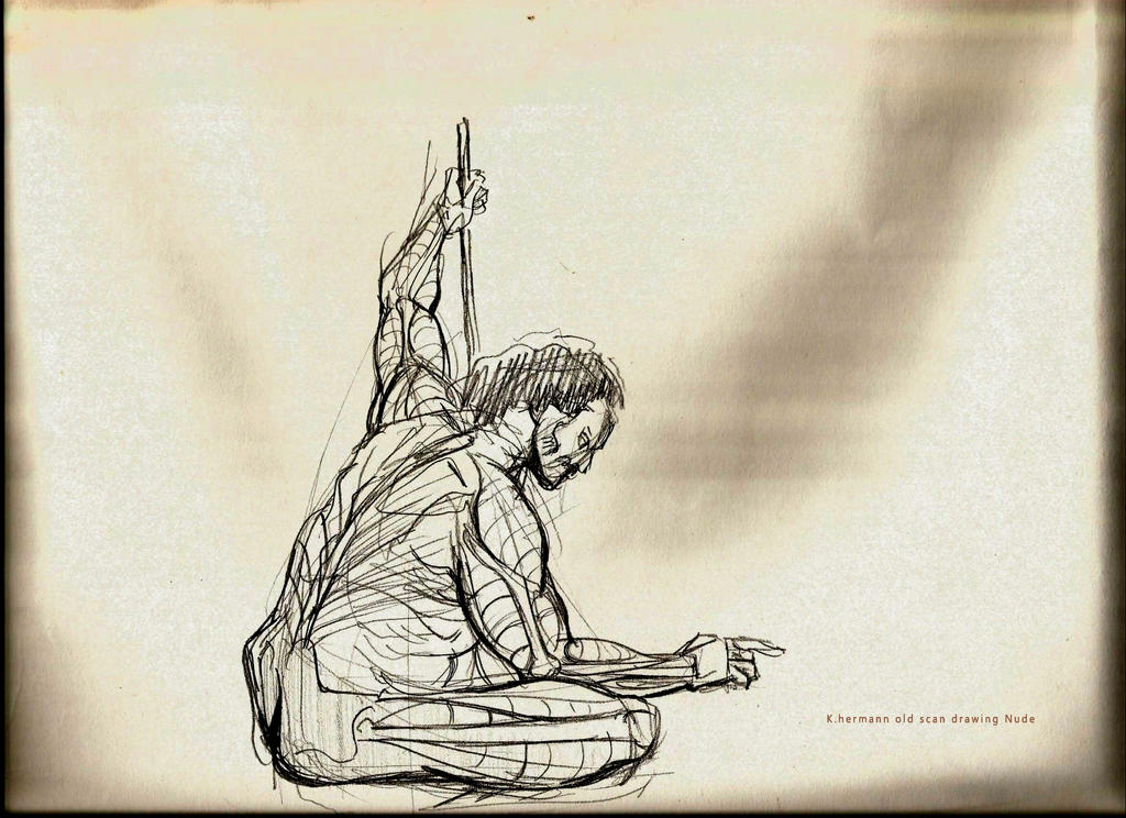 Old scan from nude drawing by K-hermann