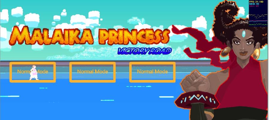 Malaika Princess devs Menu Screen by K-hermann