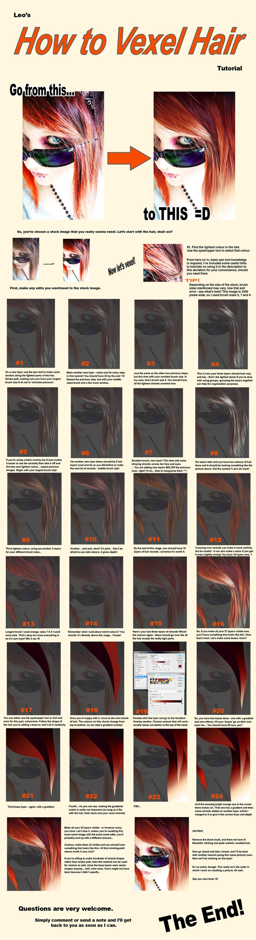 Vexel Tutorial - Hair by VAngelLJ