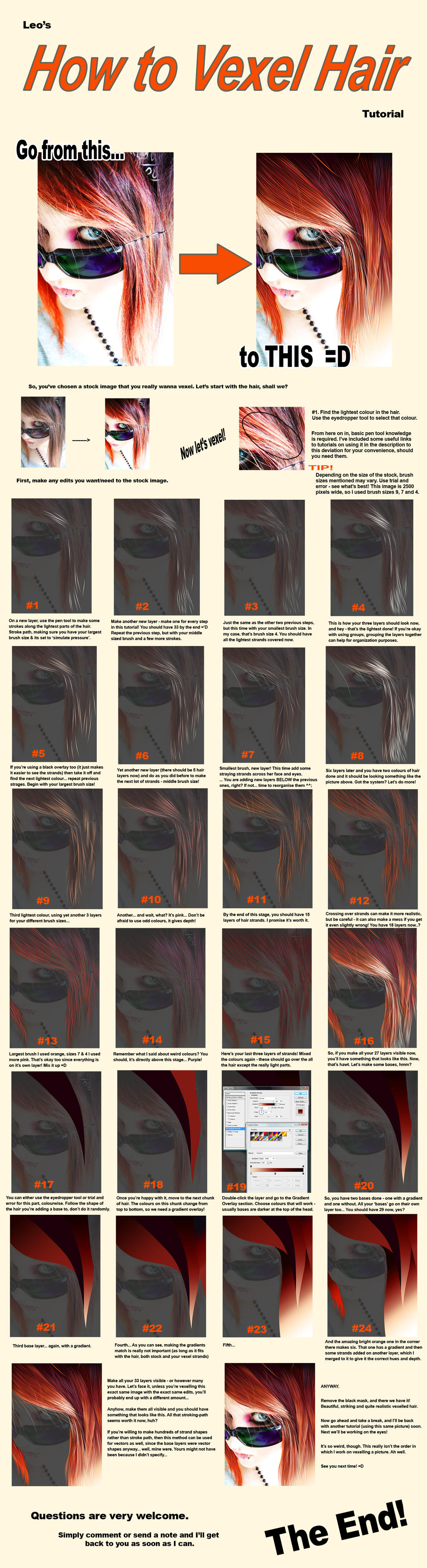Vexel Tutorial - Hair by VAngelLJ