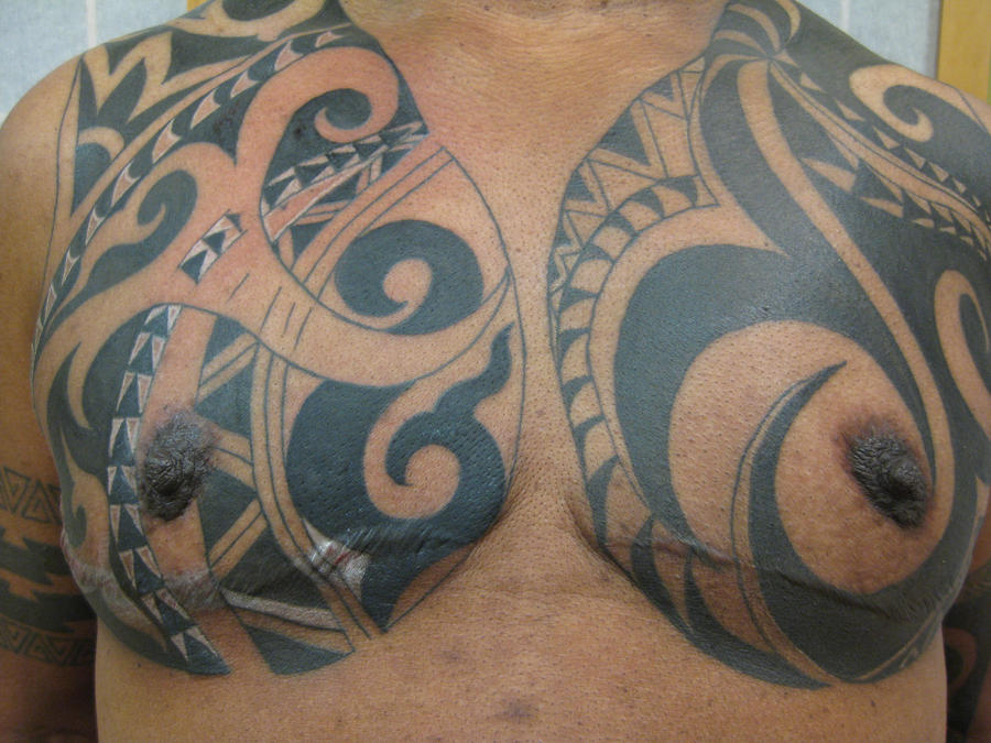 Tribal chest scar cover up by madamelazonga on deviantart for Chest cover up tattoos