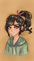 Vanellope digital art by RemyCygnus1601