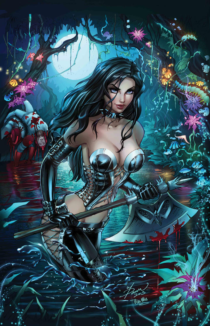 Zenescope Wonderland #21 Cover Colors by Dawn-McTeigue