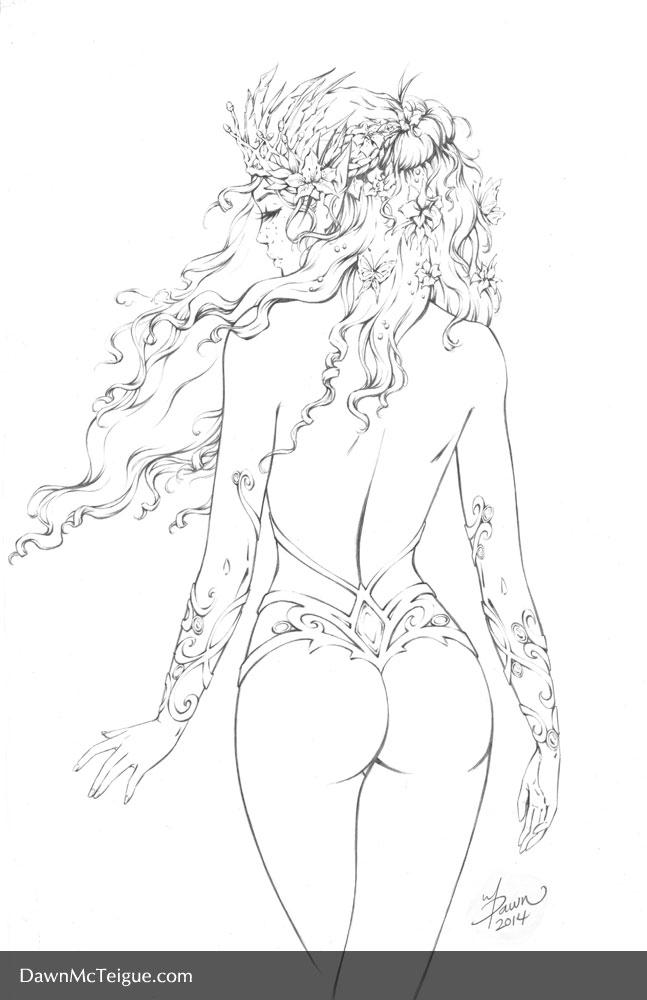 Selyara Fairy - Pencils by Dawn-McTeigue