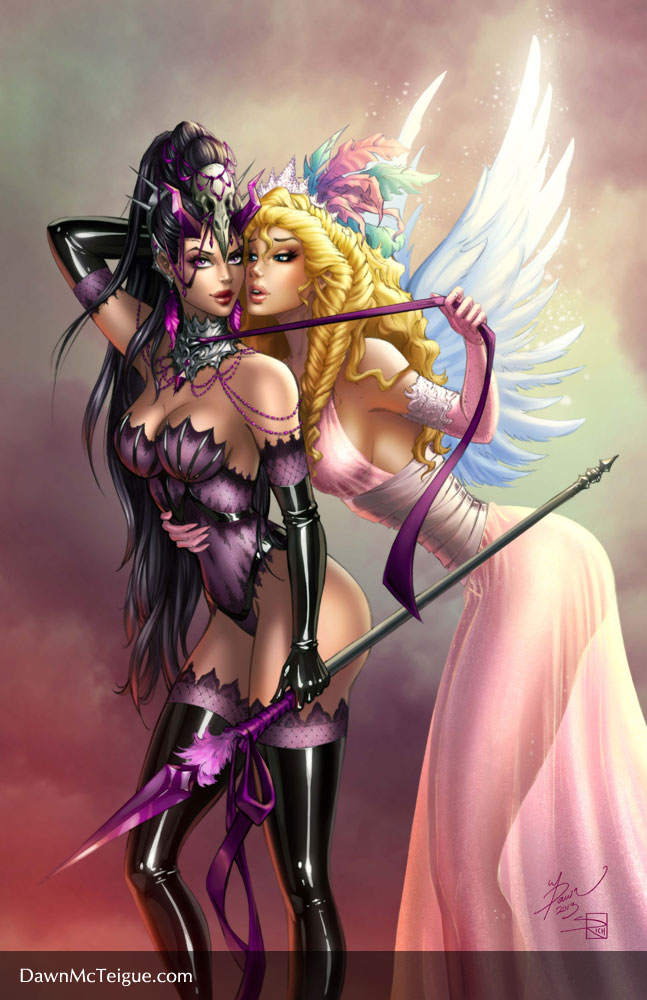 Seems Angel and devil lesbian opinion