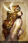 Southern Nightgown: Mask - Gold