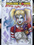 Suicide Squad Harley Quinn coloured