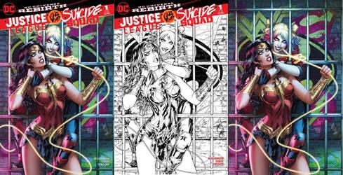 Justice League vs Suicide Squad final covers