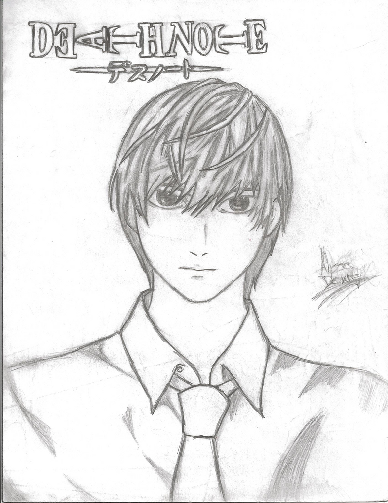 how to draw death note light