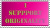 Stamp - I support Originality by Donbeekin