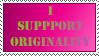 Stamp - I support Originality by Donbeekin